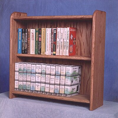 200 Series 80 DVD Multimedia Tabletop Storage Rack Finish: Dark