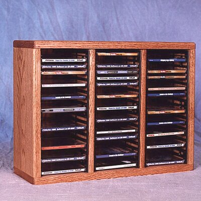 300 Series 60 CD Multimedia Tabletop Storage Rack Finish: Clear