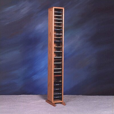 100 Series 80 CD Multimedia Storage Rack Color: Clear