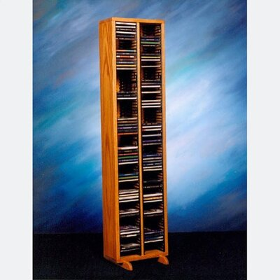 200 Series 160 CD Multimedia Storage Rack Finish: Clear