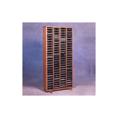 400 Series 320 CD Multimedia Storage Rack Color: Dark