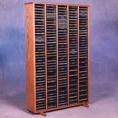 400 Series 400 CD Multimedia Storage Rack Finish: Clear