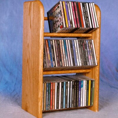 300 Series 78 CD Dowel Multimedia Tabletop Storage Rack Finish: Natural