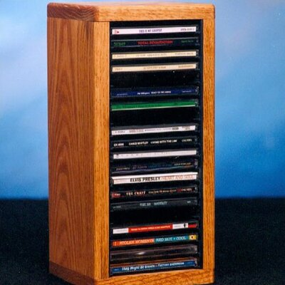 100 Series 20 CD Dowel Multimedia Tabletop Storage Rack Color: Unfinished