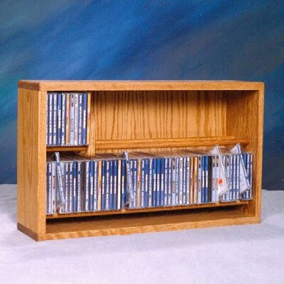200 Series 110 CD Multimedia Tabletop Storage Rack Finish: Natural