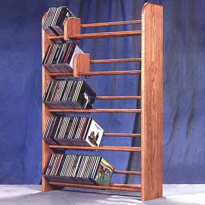 500 Series 275 CD Multimedia Storage Rack Finish: Dark