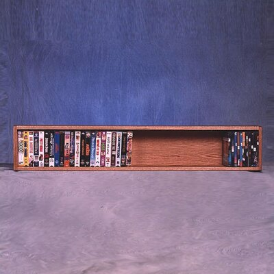 100 Series 50 VHS Wall Mounted Multimedia Storage Rack Finish: Clear
