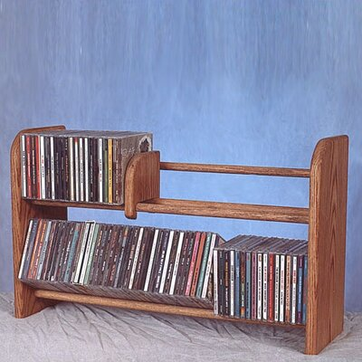 200 Series 110 CD Multimedia Tabletop Storage Rack Finish: Unfinished