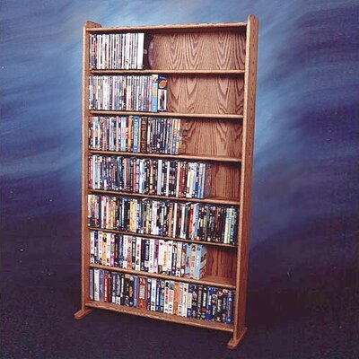 700 Series 399 DVD Multimedia Storage Rack Finish: Clear