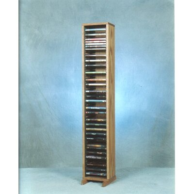 100 Series 64 DVD Multimedia Storage Rack Finish: Clear