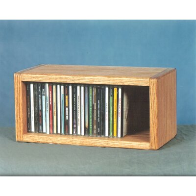 100 Series 32 CD Multimedia Tabletop Storage Rack Finish: Clear