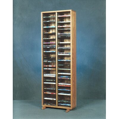 200 Series 128 DVD Multimedia Storage Rack Color: Unfinished