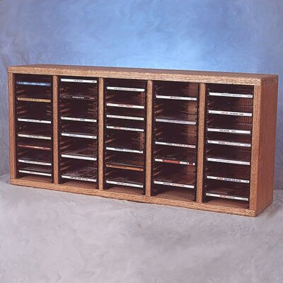 500 Series 100 CD Multimedia Tabletop Storage Rack Color: Dark