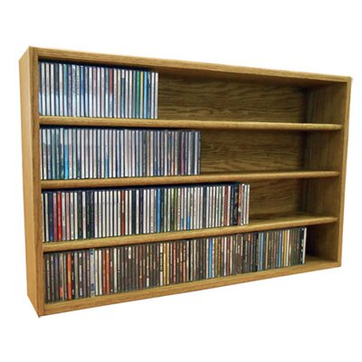 Multimedia Storage Rack Size: 24.75 H x 39.43 W x 6.75 D