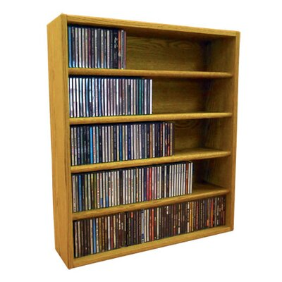 Multimedia Storage Rack Size: 30.75 H x 26.87 W x 6.75 D