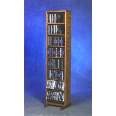 800 Series 208 CD Dowel Multimedia Storage Rack Color: Natural