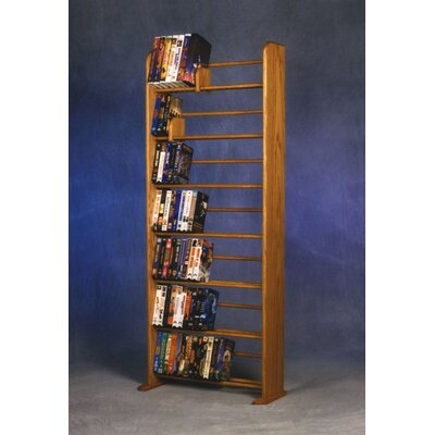 700 Series 280 DVD Dowel Multimedia Storage Rack Color: Natural