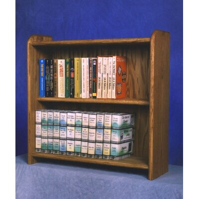 200 Series 80 DVD Multimedia Tabletop Storage Rack Finish: Natural