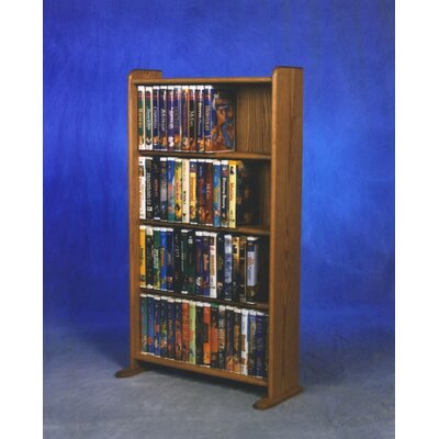 400 Series 160 DVD Multimedia Storage Rack Finish: Natural