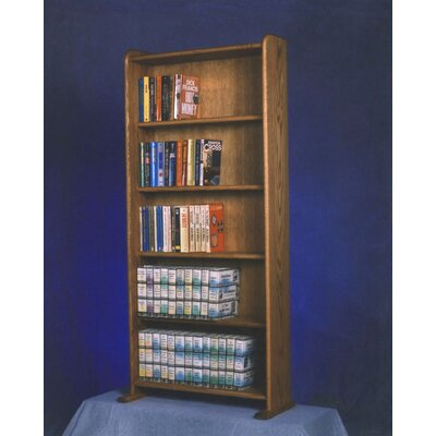500 Series 200 DVD Multimedia Storage Rack Finish: Natural