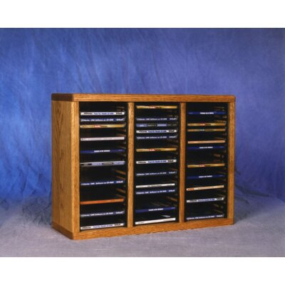 300 Series 60 CD Multimedia Tabletop Storage Rack Color: Natural