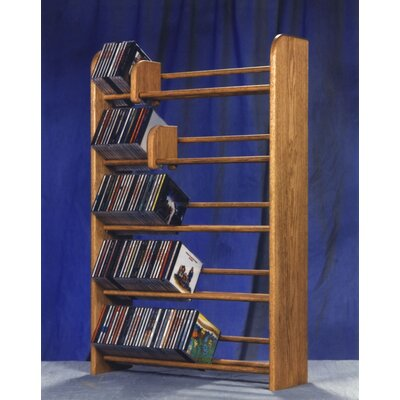 500 Series 275 CD Multimedia Storage Rack Color: Natural