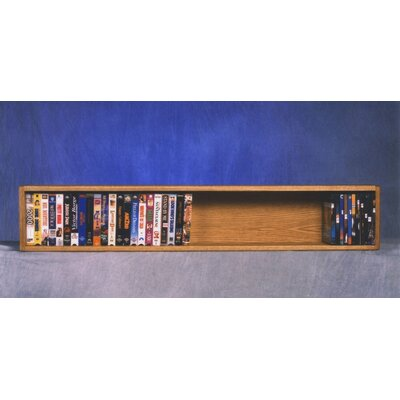 100 Series 50 VHS Wall Mounted Multimedia Storage Rack Color: Natural