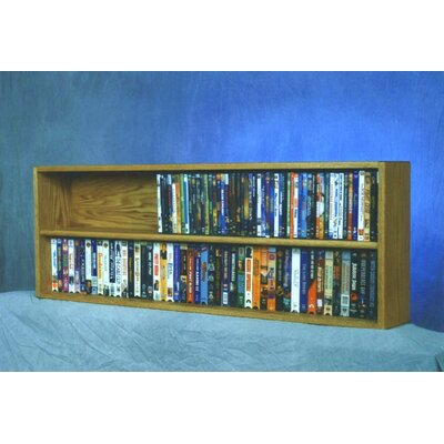 200 Series 176 DVD Multimedia Tabletop Storage Rack Color: Natural