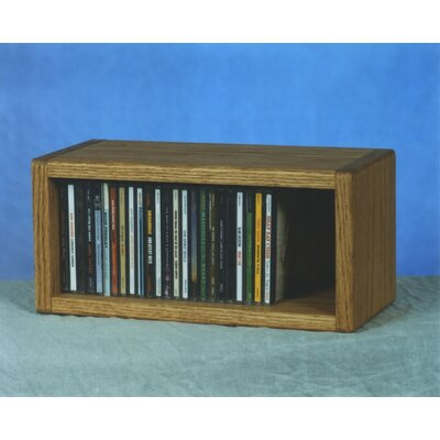 100 Series 32 CD Multimedia Tabletop Storage Rack Color: Natural
