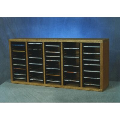 500 Series 100 CD Multimedia Tabletop Storage Rack Finish: Natural