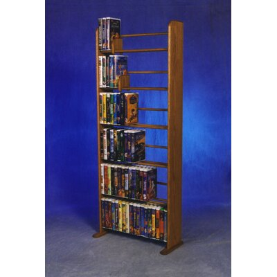 Delux VHS Dowel Multimedia Storage Rack Finish: Clear