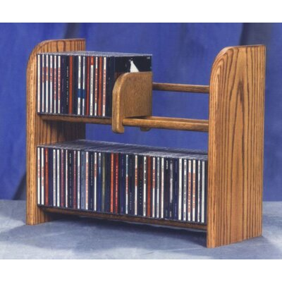 200 Series 84 CD Multimedia Tabletop Storage Rack Finish: Natural