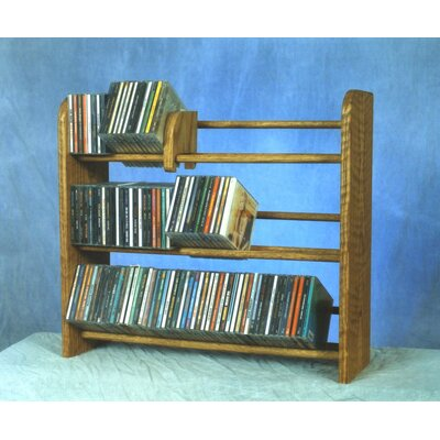 300 Series 165 CD Multimedia Tabletop Storage Rack Color: Clear