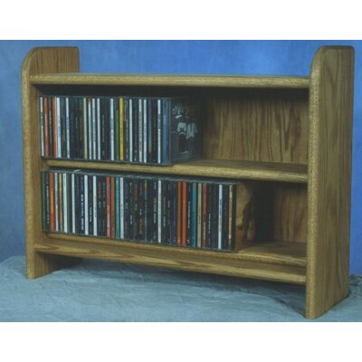 Deluxe 110 CD Multimedia Tabletop Storage Rack Finish: Natural