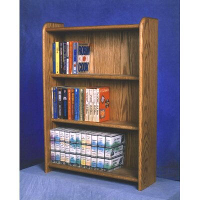 300 Series 120 DVD Multimedia Storage Rack Finish: Natural