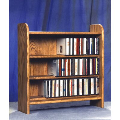 300 Series 165 CD Multimedia Tabletop Storage Rack Color: Natural