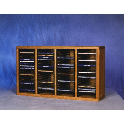 400 Series 80 CD Multimedia Tabletop Storage Rack Finish: Natural