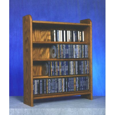 400 Series 220 CD Multimedia Storage Rack Finish: Clear