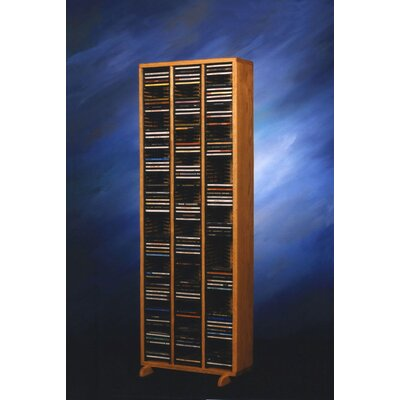 300 Series 240 CD Multimedia Storage Rack Finish: Clear