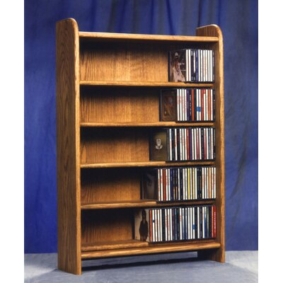 500 Series 275 CD Multimedia Storage Rack Finish: Clear