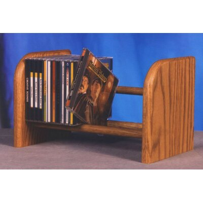 100 Series 26 CD Dowel Multimedia Tabletop Storage Rack Finish: Dark