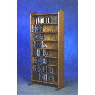 800 Series 440 CD Multimedia Storage Rack Finish: Natural