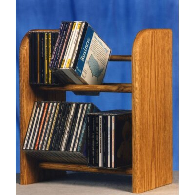 200 Series 52 CD Dowel Multimedia Tabletop Storage Rack Color: Unfinished