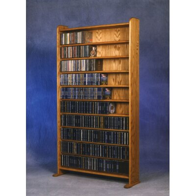 1000 Series 830 CD Multimedia Storage Rack Finish: Natural