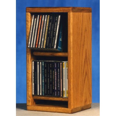 200 Series 28 CD Multimedia Tabletop Storage Rack Finish: Natural