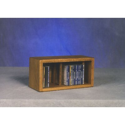 100 Series 28 CD Multimedia Tabletop Storage Rack Finish: Dark