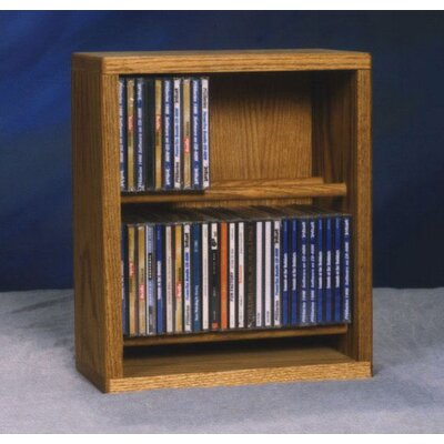 200 Series 52 CD Multimedia Tabletop Storage Rack Finish: Clear