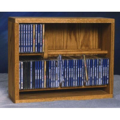 200 Series 80 CD Multimedia Storage Rack Finish: Natural