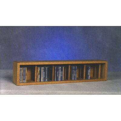 100 Series 67 CD Multimedia Tabletop Storage Rack Finish: Clear