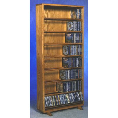 800 Series 440 CD Dowel Multimedia Storage Rack Finish: Clear